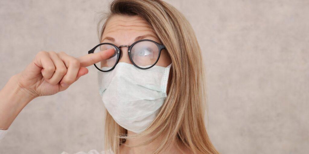 dioptrijska očala in zaščitna maska